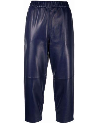 Fioletowe spodnie skorzane Dusan