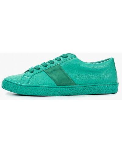 Низкие кеды кожаный зеленый Paolo Conte