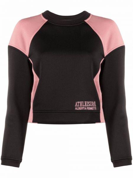 Черный свитер с вышивкой Alberta Ferretti