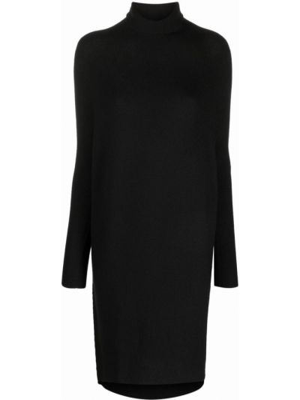 Платье миди в рубчик - черное Christian Wijnants