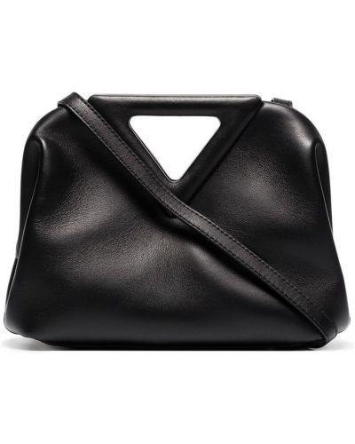 Кожаная черная сумка Bottega Veneta