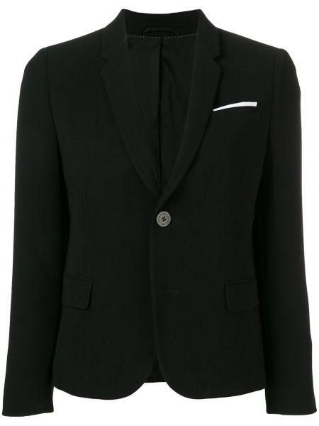 Черный приталенный пиджак из вискозы Neil Barrett