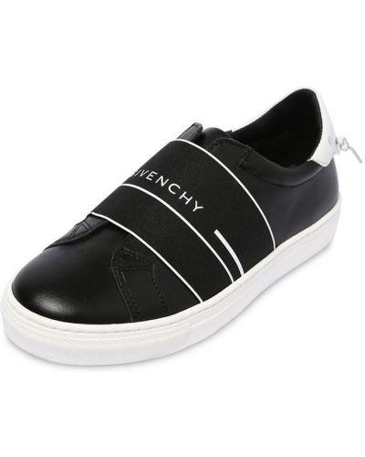 Кожаные кроссовки эластичные на каблуке Givenchy