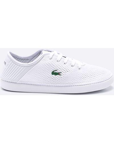 Кроссовки белый текстильные Lacoste
