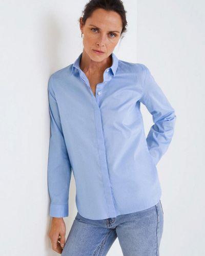 Рубашка с длинным рукавом голубой 2019 Mango