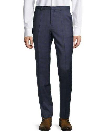 Spodnie wełniane z paskiem w kratę Hugo Hugo Boss