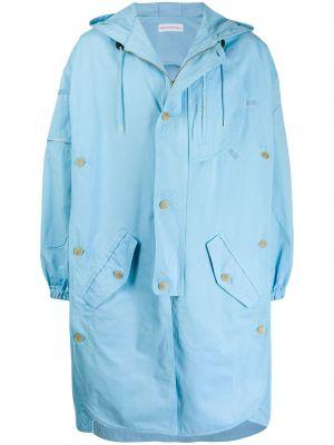 С рукавами синее длинное пальто на шнурках с карманами Walter Van Beirendonck Pre-owned