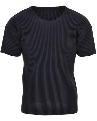 T-shirt - niebieska Issey Miyake