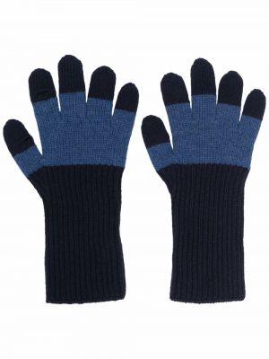 Rękawiczki wełniane - niebieskie Homme Plisse Issey Miyake