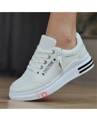 Кожаные кроссовки - белые Violeta