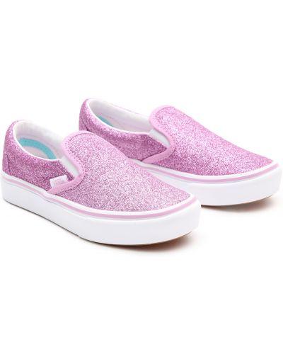 Фиолетовые мягкие текстильные слипоны Vans