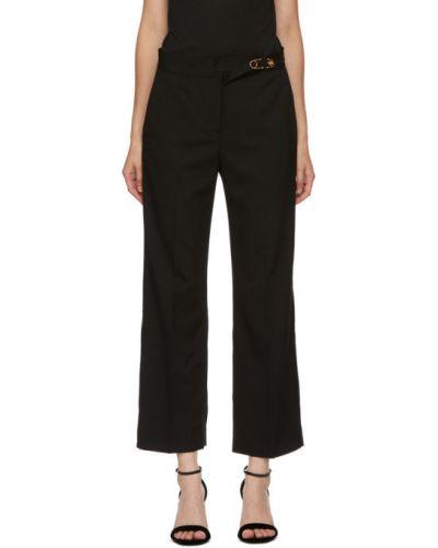 Свободные черные брюки с карманами Versace