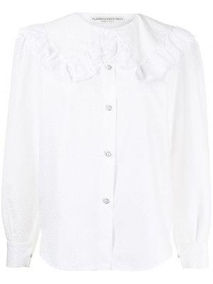 Koszula bawełniana koronkowa z długimi rękawami Alessandra Rich