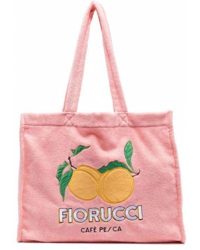 Różowa torebka z printem Fiorucci