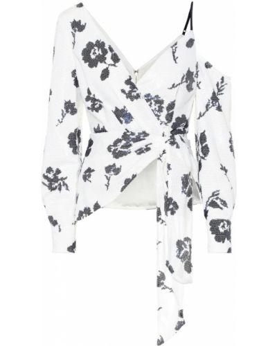 Блузка с пайетками белая Self-portrait