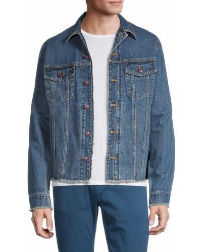 Niebieskie jeansy zapinane na guziki Zadig & Voltaire