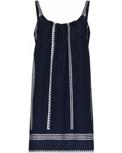Хлопковое платье мини - синее Lemlem