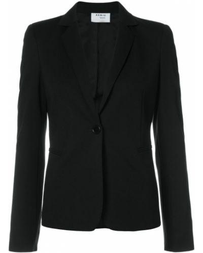 Черный приталенный пиджак Akris Punto