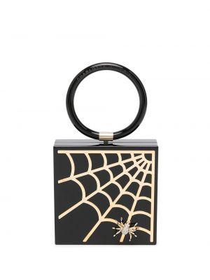 Черный сумка круглая с принтом Charlotte Olympia