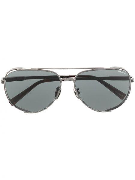 Черные солнцезащитные очки металлические Chopard Eyewear