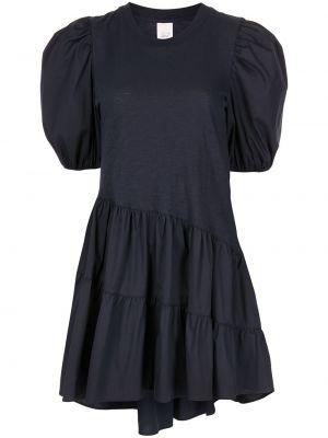 Хлопковое синее платье мини с вырезом Cinq À Sept