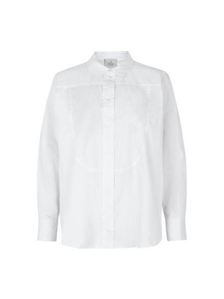Biała koszula oversize w paski Munthe