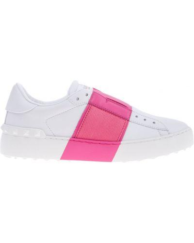 Кожаные кроссовки с перфорацией с логотипом Valentino