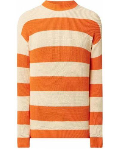 Prążkowany pomarańczowy sweter bawełniany Scotch & Soda