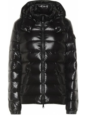 Утепленная куртка черная пуховый Moncler