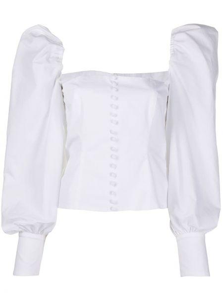 Biała bluzka bawełniana zapinane na guziki Brognano