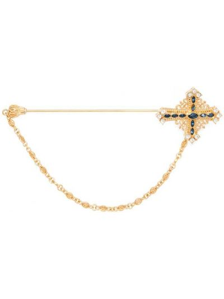 Золотистая брошь золотая Dolce & Gabbana