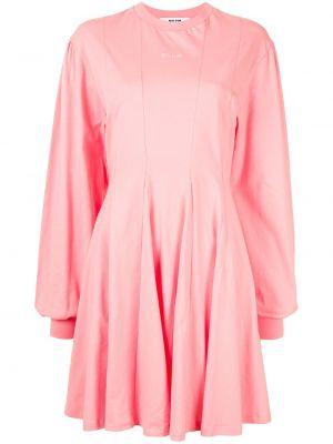 Платье макси с длинными рукавами - розовое Msgm