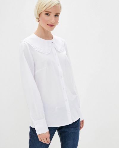 С рукавами белая блузка Am One