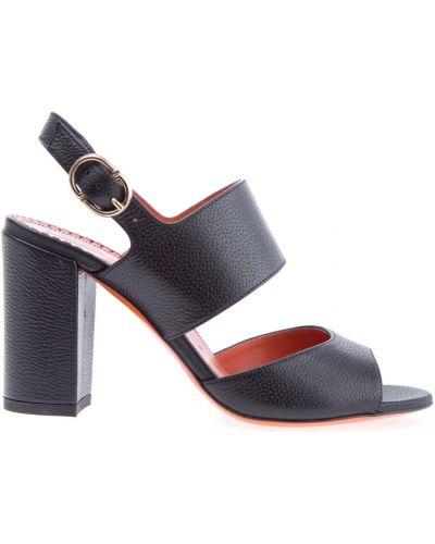 Босоножки на каблуке кожаные Santoni