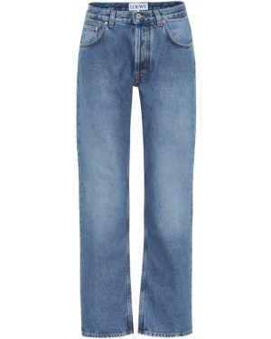 Широкие джинсы с вышивкой mom Loewe