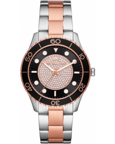 Różowy zegarek srebrny Michael Kors