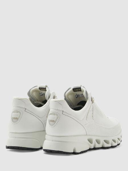 Кожаные белые кроссовки на шнуровке Ecco