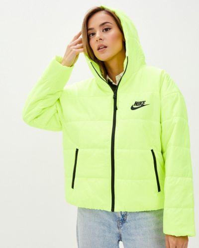 Теплая желтая утепленная куртка Nike