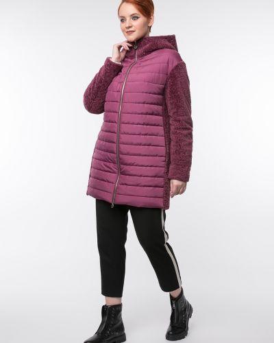 Прямое пальто с капюшоном на молнии Aliance Fur