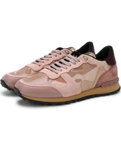Кроссовки замшевые с шипами Valentino