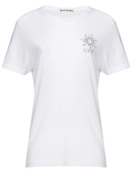 Футбольная белая футболка из вискозы Acne Studios
