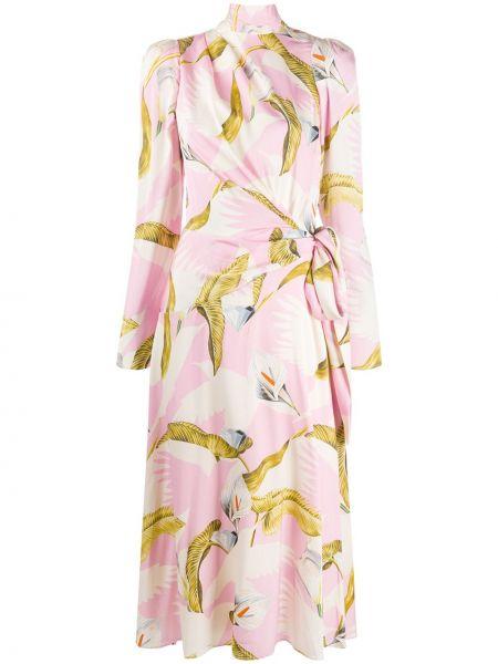 Вечернее платье розовое с запахом Temperley London