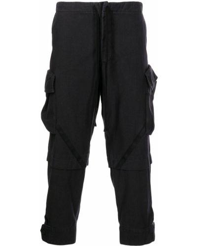 Черные укороченные брюки Greg Lauren