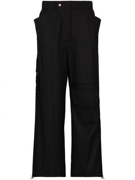 Шерстяные брючные черные брюки карго Gmbh