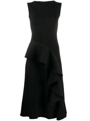 Приталенное платье миди с оборками без рукавов с вырезом Off-white