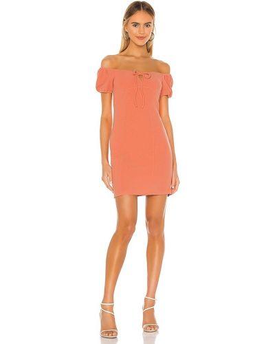 Оранжевое вечернее платье с декольте с американской проймой Bcbgeneration