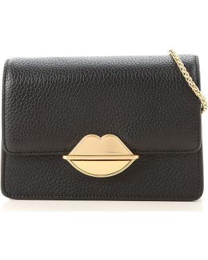 Czarna torebka skórzana Lulu Guinness