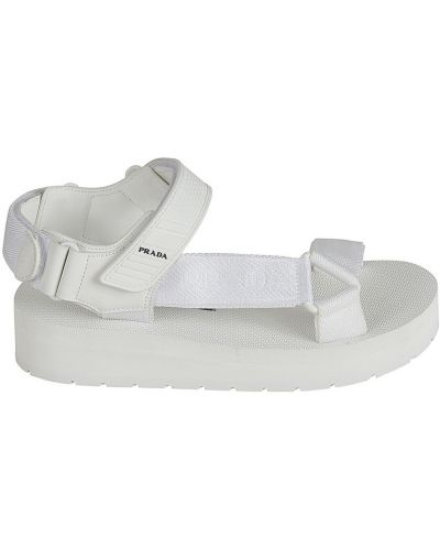 Białe sandały Prada