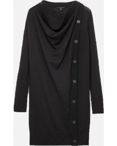 Шерстяное платье макси - черное Cos