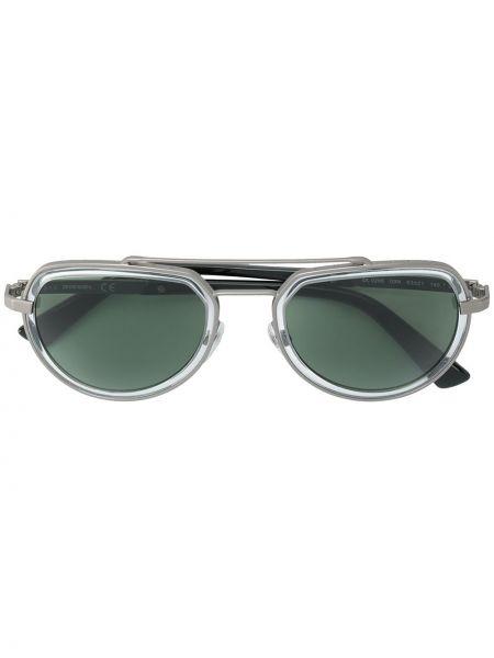 Прямые солнцезащитные очки металлические хаки Diesel